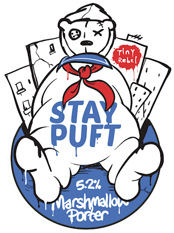 Stay Puft - Porter 5.6% // Tiny Rebel Brewing Co - During a weekend away in Cardiff I was fortunate enough to pop into Tiny Rebel, a located in the heart of the city. I was overwhelmed by the selection so opted to go for something I knew I would enjoy, the Stay Puft porter. Thick vanilla-mashmallowy goodness in a glass, served on nitro for an extra smooth finish. The Tiny Rebel bar is a fantastic place and I look forward to going back.