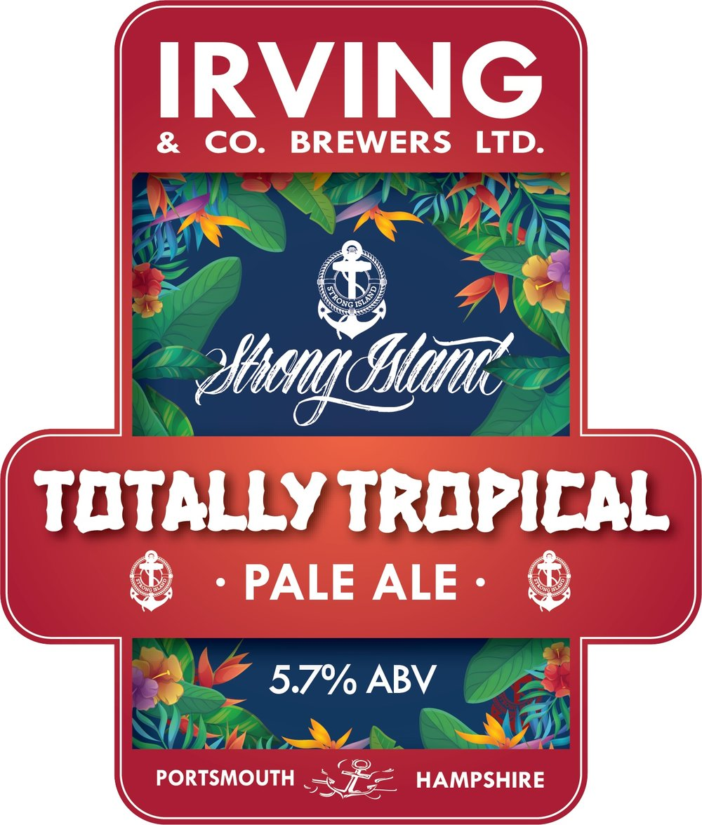 Totally Tropical -  Pale Ale 5.7% // Irving & Co Brewers - Winner of the Strong Island Homebrew Competition 2017. I've found a lot of Irving & Co's beers to be quite samey but this tropical pale ale sets them apart. Really fruity without being a huge departure from their other popular ales. A really nice summer beer from the Portsmouth brewery.