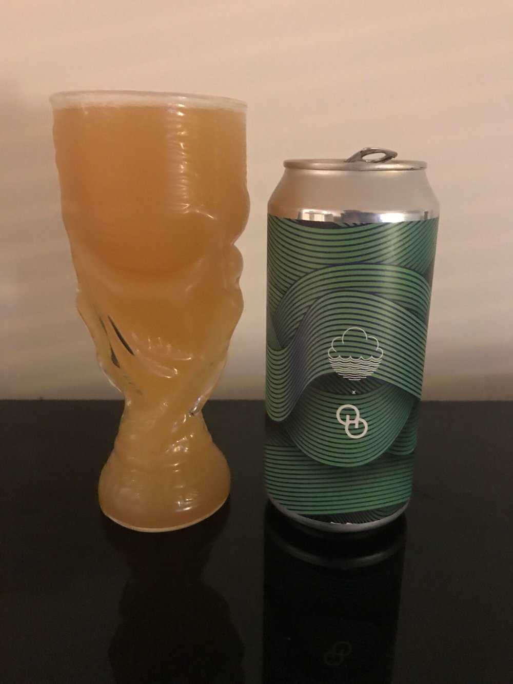 Tremendous Ideas - Double IPA 8% // Cloudwater Brew Co. x Other Half Brewing Company - Bang on the Hedges brand, comes this 8% DIPA collaboration with New York brewery, Other Half (who brewed several collaborations with several UK breweries during their trip over from the US for Hop City Leeds).If you've read anything I've written on this ol' blog in the past, it's pretty obvious by now this beer was always going to be my thang - the UK kings of this style of beer collaborating with one of the US kings of the style? Go figure. 50% oats were used in the grist for this which made it super viscous for dat murk and was very thick for dat mouthfeel.This was super fresh and juicy. I had two cans, one not long after they went on sale and one about a month later - it definitely improved once the slight burn from the super fresh hops had settled down.