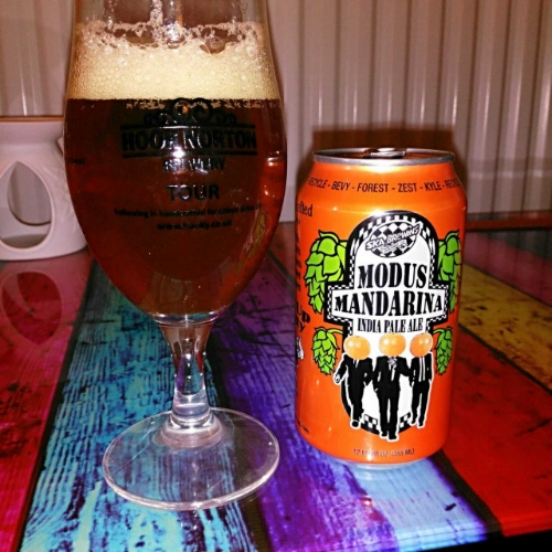 Modus Mandarina - American IPA 6.8% // Ska Brewing  - I first heard of Ska Brewing and their Modus range of beers when I was travelling stateside and spotted some of their artwork with the iconic ska man at the beer memorabilia museum at Minhas Craft Brewery in Monroe, Wisconsin. Being a fan of ska music in my younger days (the shame), I was instantly drawn to the artwork and it stuck with me until I first saw their cans over here a couple of years ago. I was pleased to get to try Modus Mandarina, their orange version of the Modus Operandi. This is a refreshing, well balanced IPA. It's not overly fruity, which is a plus to me and has that darker, marmalade type flavour that I think works well in beer. I much prefer this over some of the other orange flavoured beers I've had like the recent Prototype Tangerine IPA by Brewdog. This is a classic that I could go back to.