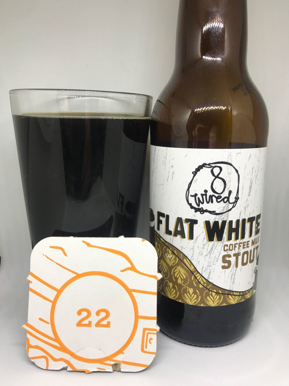 Day Twenty Two: Flat White - Milk Stout 5.5% // 8 Wired Brewing Co.  - This is the fourth coffee based stout in the calendar and it probably ranks somewhere in the middle of the pack. It tastes just like a flat white so they've nailed that but is a little bit too carbonated and lacks the bitter edge to elevate it beyond being just ok. It's also a bit thin. I keep saying this a lot but it does make a difference - a stout that has that thick mouthfeel (sorry, I hate that word) just gives it a silkier and smoother finish. I don't really have anything else to add to this beer. I think I'm getting calendar fatigue and coffee stout boredom.