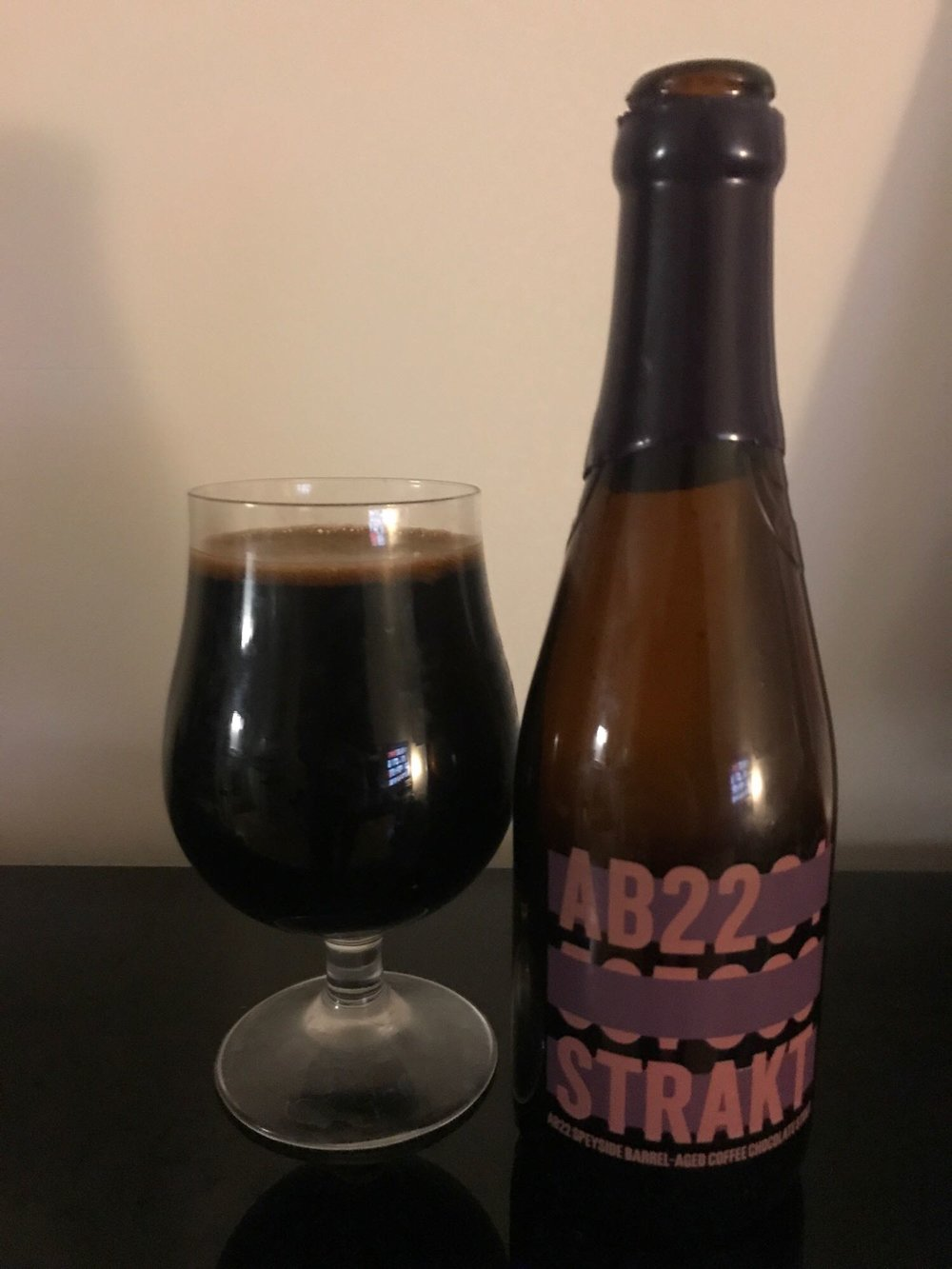 Abstrakt AB:22 - Imperial Stout 12.5% // BrewDog  - Another big boozey bastard. This time from BrewDog. AB:22 was actually released at the start of 2017 and had lingered at the back of the beer cupboard for the best part of a year before I saw fit to crack it open. An imperial stout made with cacao and coffee and aged for two years in Speyside whisky casks.The official description is a tiiiny bit over the top in describing the flavours: