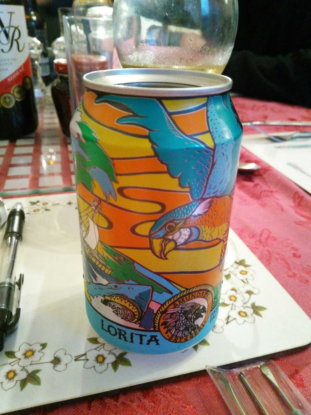 Lorita Passionfruit Pale Ale - Pale Ale 4.7 % // Amundsen Bryggeri - This was another one from my Christmas beer order (though not part of the theme, I just liked the can) and my first time trying anything from Norway's Amundsen.I had heard good things about Amundsen and their colourful cans have caught my eye on a number of occasions. This is also one of the few 'topless' cans I've had (I seem to be late to the party there).As expected from a passionfruit pale, this is massively fruity, with strong tropical flavours. Another really easy drinking beer, I'll definitely be trying more of Amundsen's range in the future.