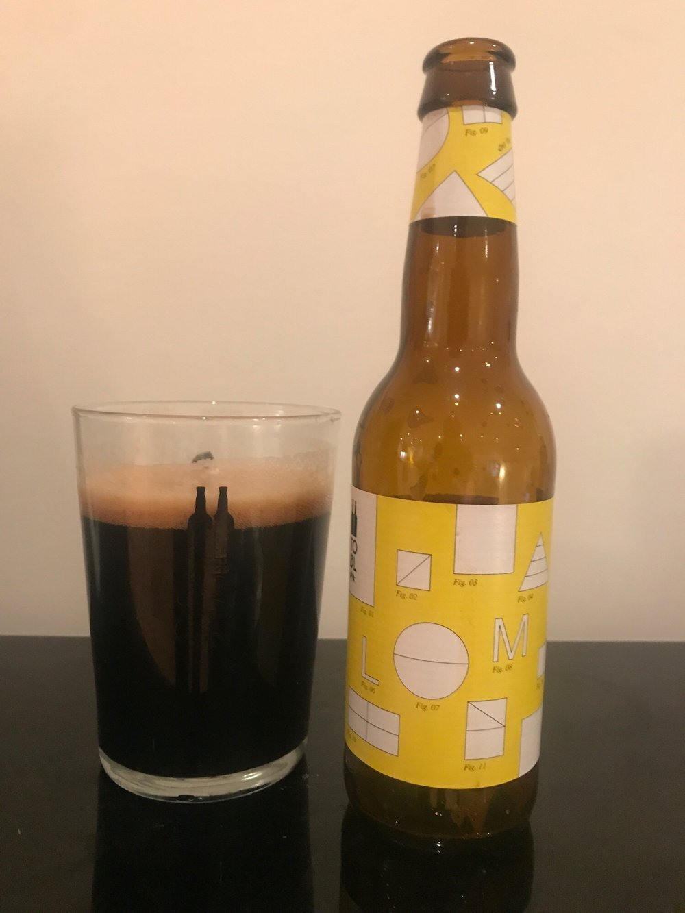 Day Twenty One: Let Mælk // Milk Stout 4.1% - I said earlier I wanted to try another variant of the 'Mælk' series so happy to see a yellow label pop out of the box.This is quite strange - it's very smooth and rich but lacks any body and is very thin so is a bit of a head fuck. It's quite a traditional stout and lacks any weird adjuncts which is quite refreshing.It's very enjoyable and tastes stronger than it should. It's billed as a 'session milk stout' but I'm not sure I'd want to chin a lot of these. Good though.