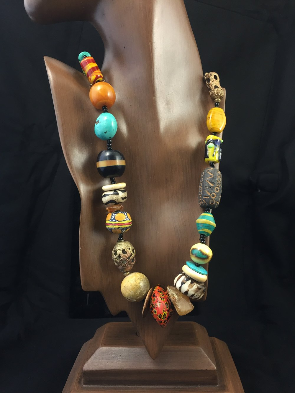 Ethnic Rose Beads -
