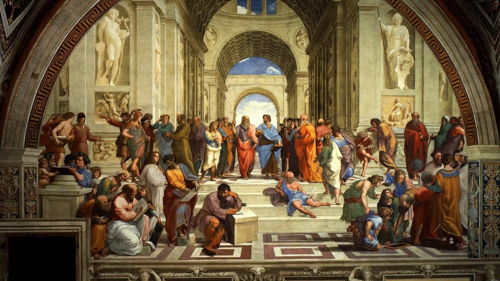 - Raphael,  The School of Athens