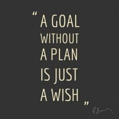 Don't wish for it, work for it!