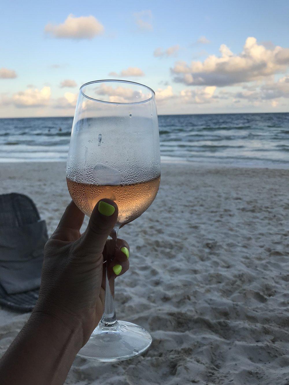 I never sacrifice my wine on vacation ps 🙃