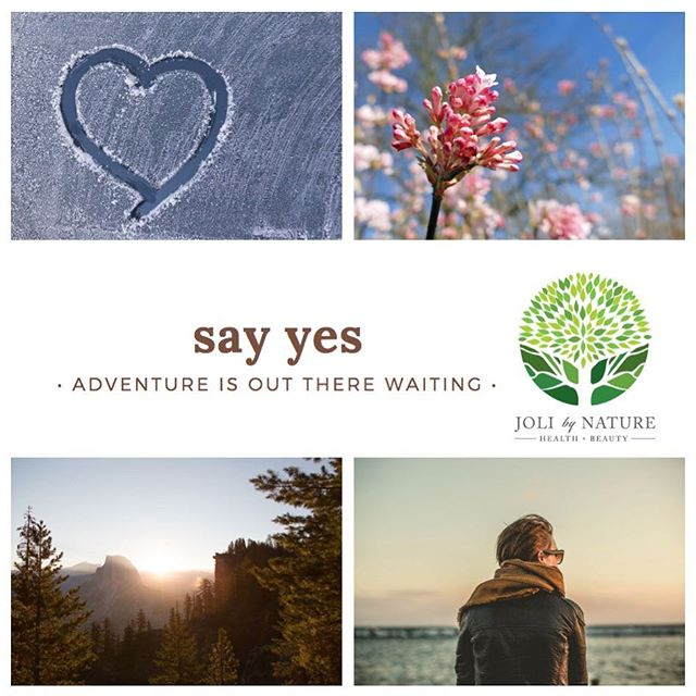 Today I am saying YES to ADVENTURES! What about you, what are you saying YES to?  #joli #jolibynature  #motivationalquotes #morningmotivation #quote #quoteoftheday #instaquote #lifequotes #inspirationalquotes #instaquotes #quotestagram #quotesoftheday #local #delraybeach #florida #southflorida #bocaraton #miami #vegan #skincare