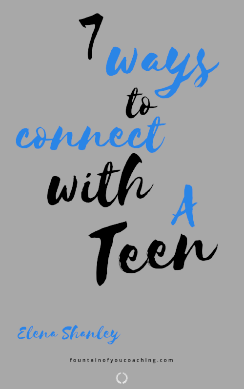 Ever wonder why you can't seem to connect with your teen like you use to? Does it feel like you have no idea what is going on in his/her life? Here are 7 easy tips to create connection with your teen. Get your free copy today!