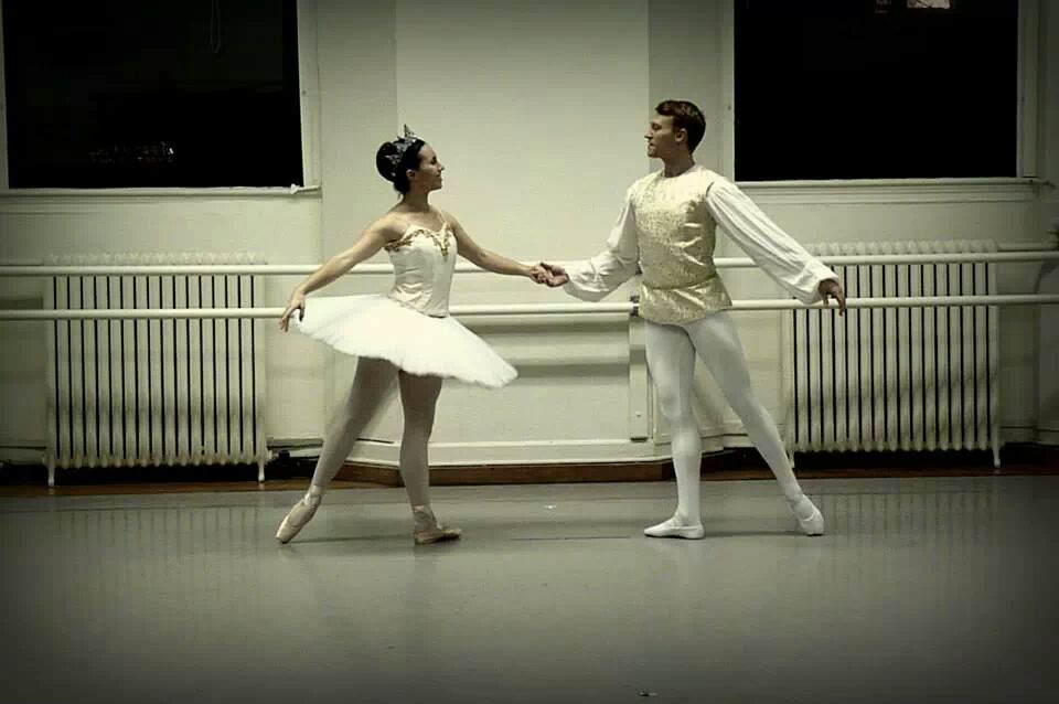 "Rehearsal for ""Sleeping Beauty"" Pas de Deux   Columbia University Ballet Ensemble"