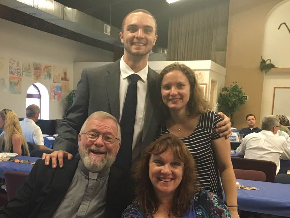 Rev. Mike and Tina Wurschmidt with their children, Joel and Christen.