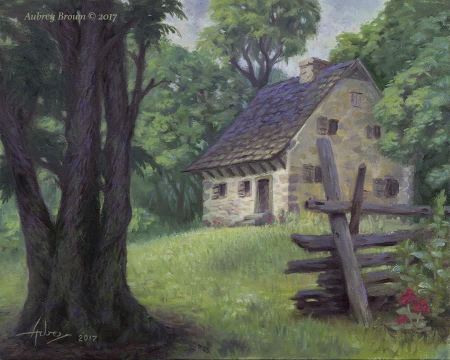 """""""Homestead"""" oil on canvas, 16""""x20"""""""