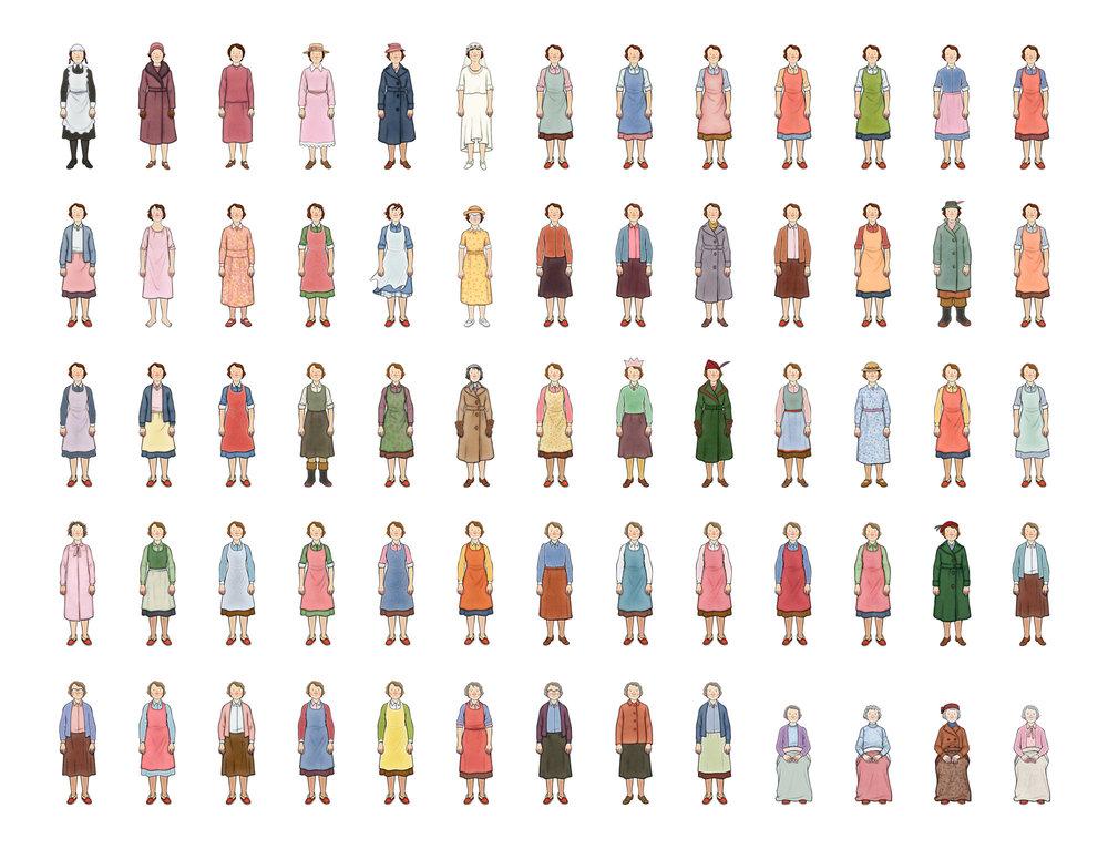 Ethel Colour Costume Designs