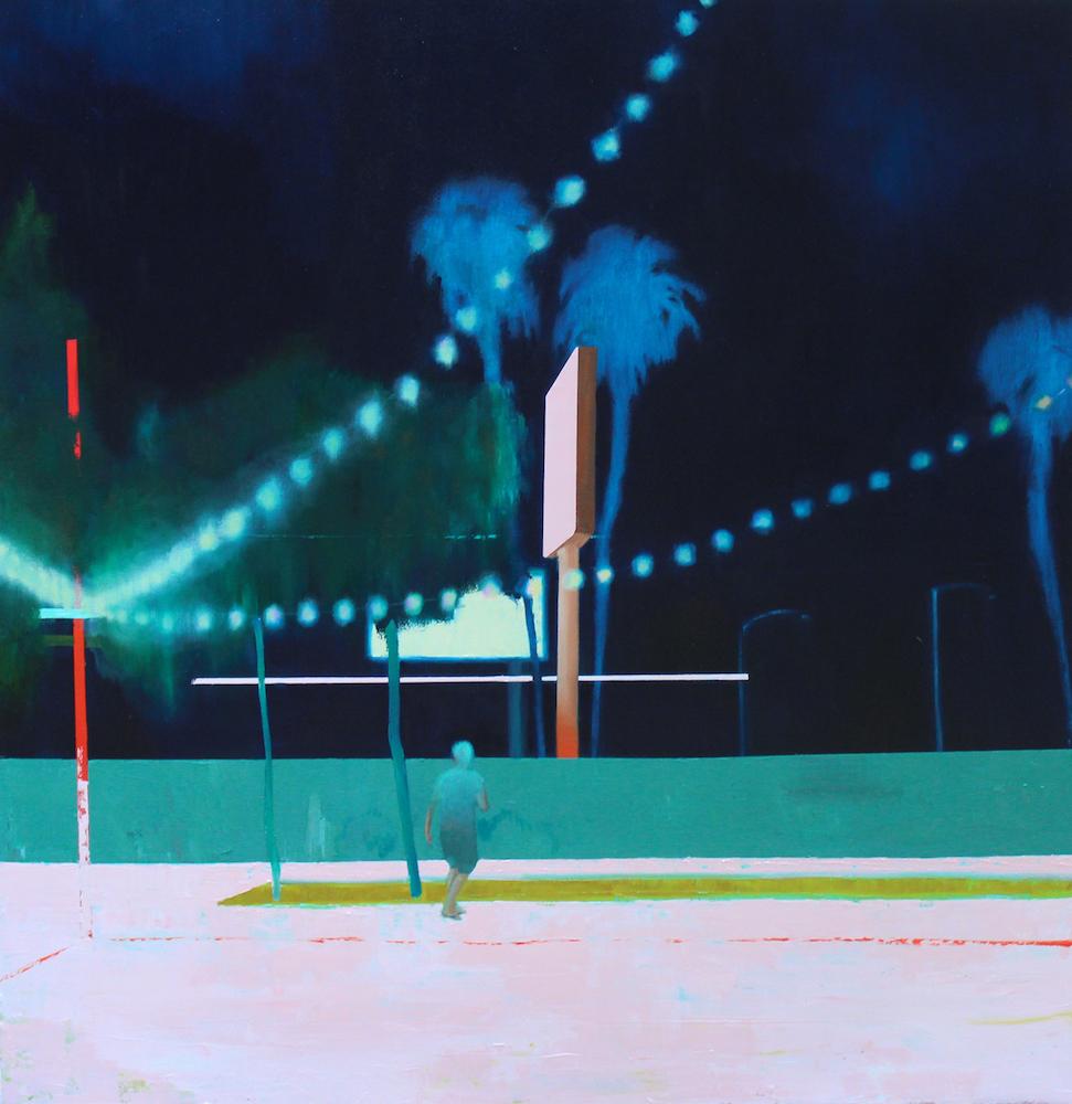 "Jena Thomas, In Search of Fun , 2018, oil on canvas, 48"" x 46"""