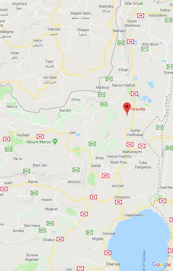 Isravilla is centrally located in the north of Israel. - https://goo.gl/maps/AQAkDa9vSEp
