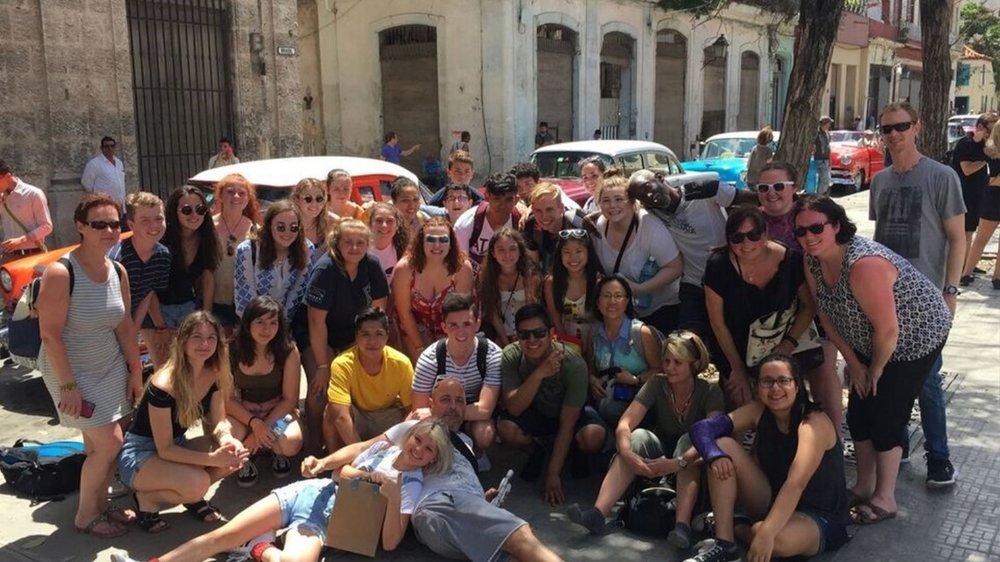 More group shots in Old Havana.