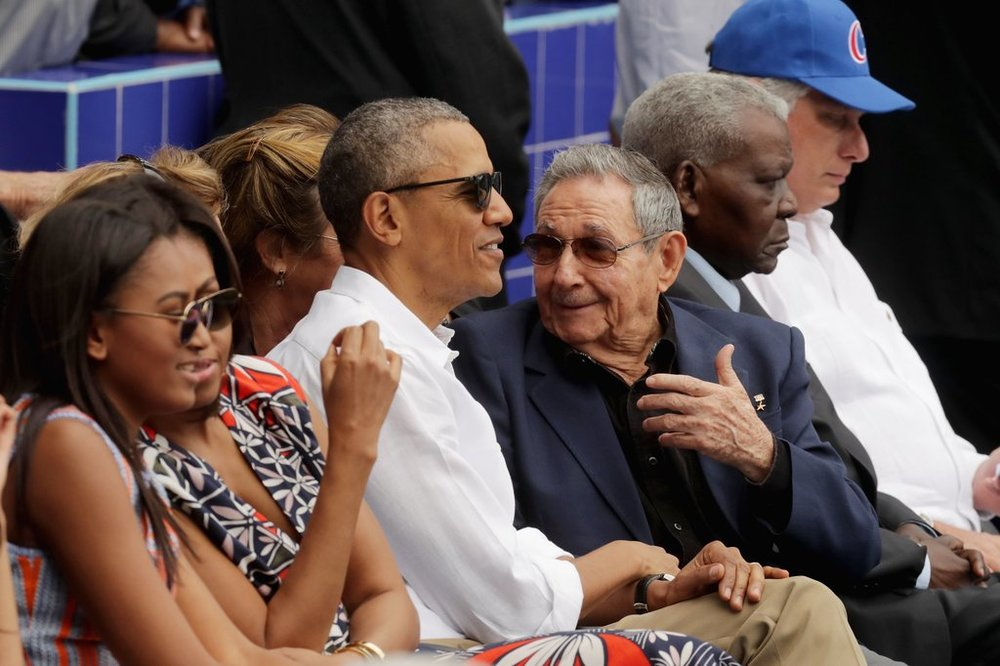 When President Obama became the first American president to visit Cuba since 1922, he and Cuban Presidents Raul Castro attended a game between the Tampa Bay Rays and the Cuban National Team. The Rays won the game 4-1.