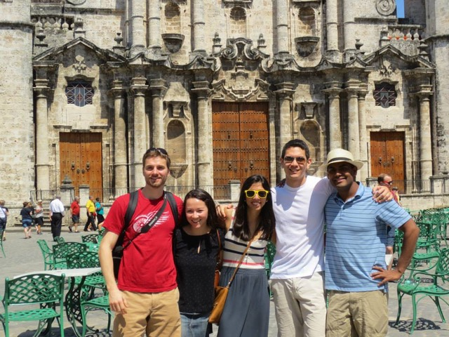 Harvard Business School students in Havana in March of 2013. Megumi Gordon second from left.
