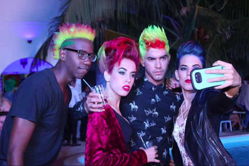A group of trendsetters at Dorian's recent fashion show in Havana.