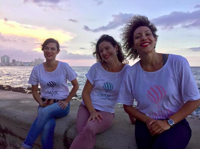 Dador founders Ilse Anton, Raquel Janero and Lauren Fajardo.