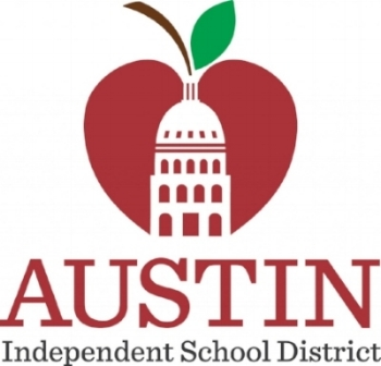 Austin Independent School District logo, serving Austin and nearby areas. Art and Science Communications of Austin client.