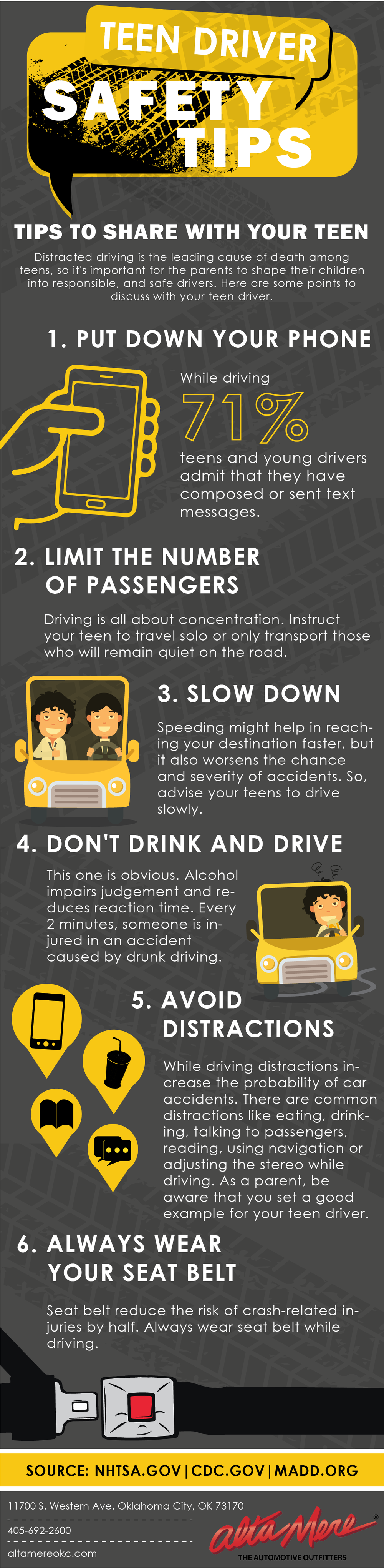 Top 6 Safety Tips For Teenage Drivers