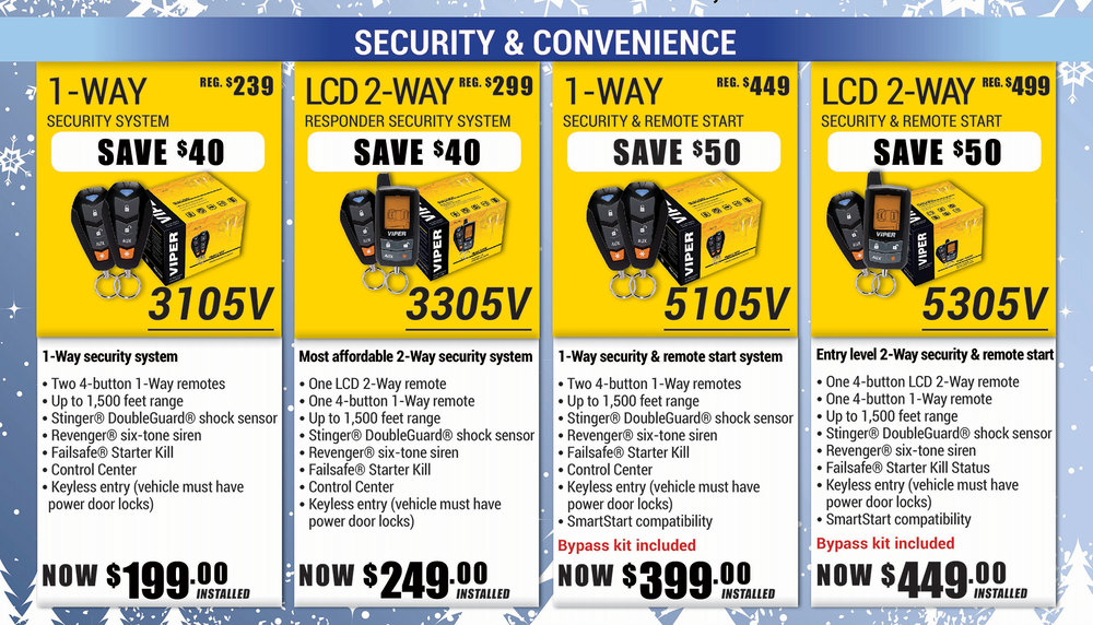 Auto Alarm packages