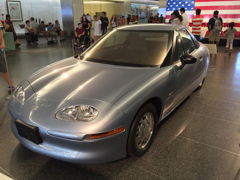 Display 1: General Motors EV1 Photos:  Wikipedia
