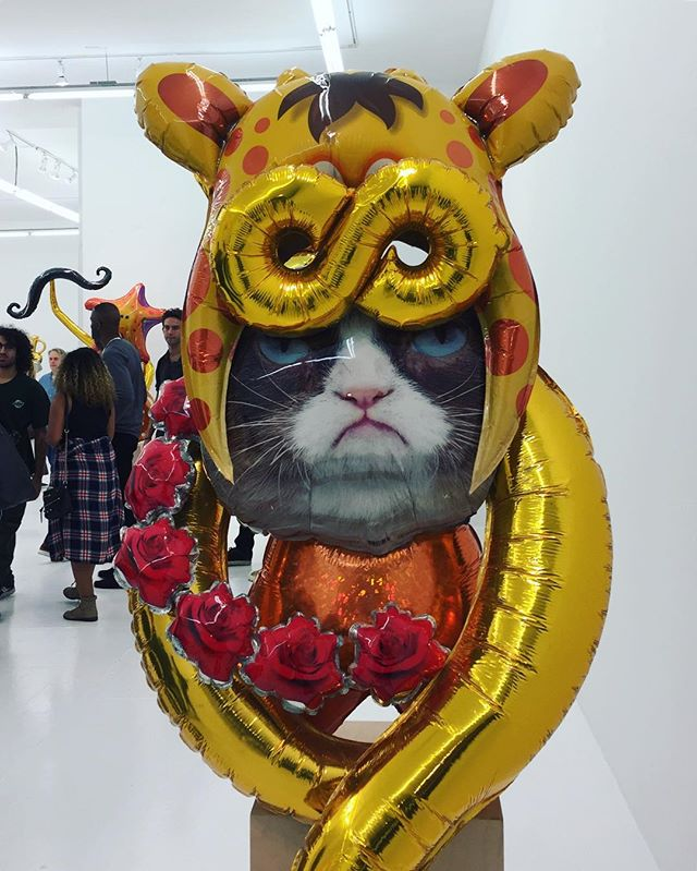 Last night @theholenyc was fun... #grumpycat #gallerydriveby