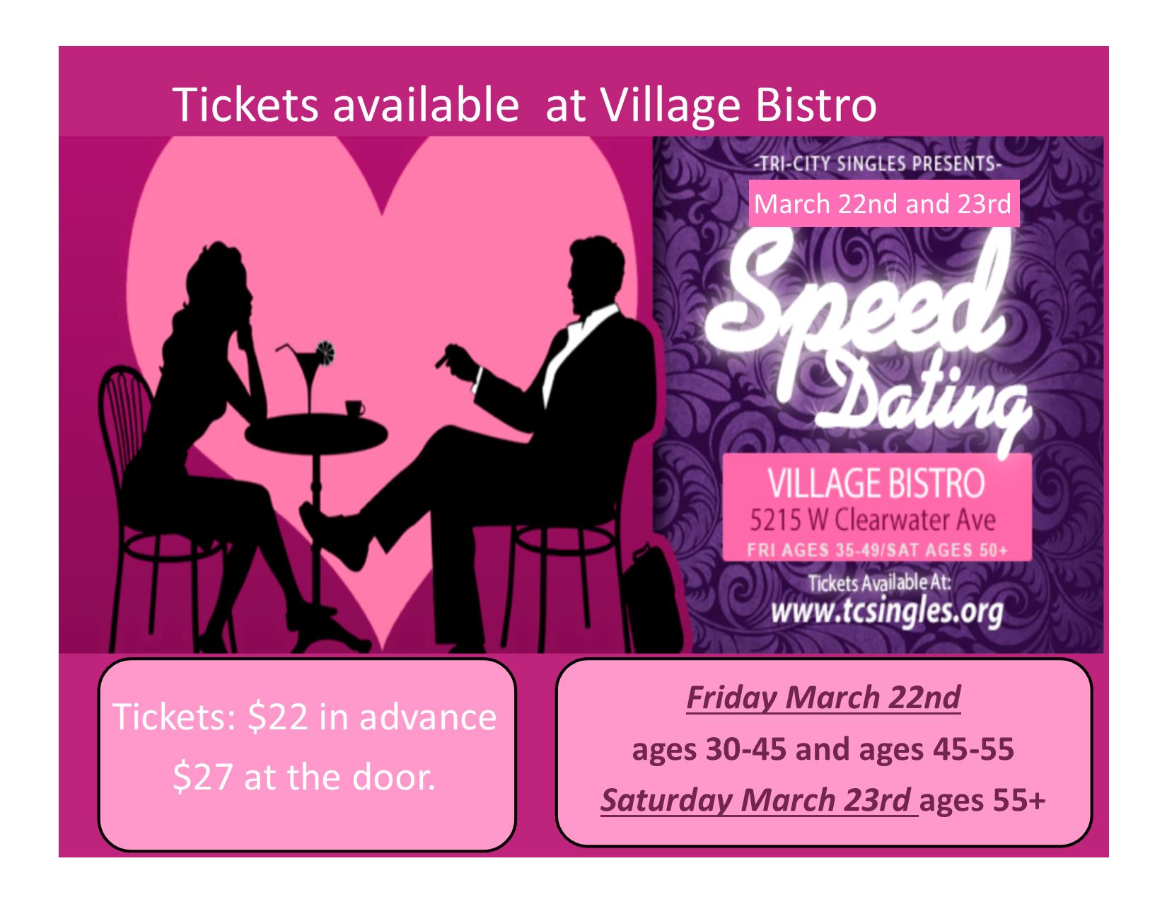 village drinks speed dating