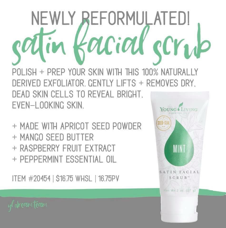 living facial oil scrub Young essential mint
