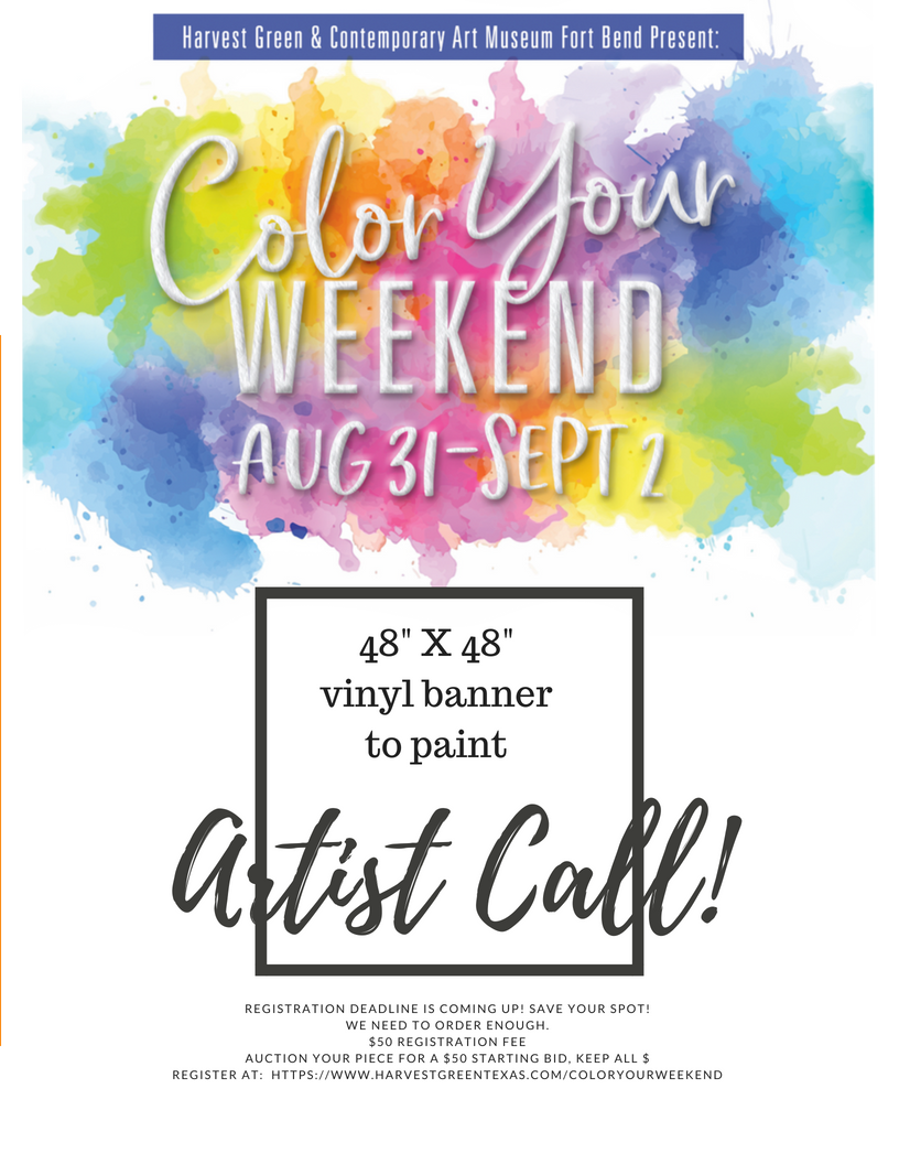 Aug 15 - Deadline to enterPaint a smooth white vinyl square (48x48