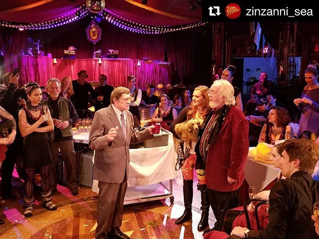 Onward and upward! Congrats on another fantastic show @zinzanni_sea - can't wait for all that is to come! . . . #Repost @zinzanni_sea with @get_repost ・・・ Closing night toasts 🥂 Nearly 20 years of Love, Chaos, and Dinner served to over a million audience members. See you in Woodinville this fall IN OUR NEW HOME! 🎪 #TZWORLDHEADQUARTERS