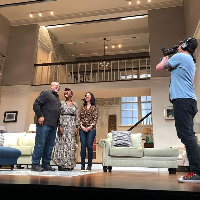 Shootin' some TV with @seattlerefined today for @seattlerep's production of @danaigurira's FAMILIAR, running thru May 27!