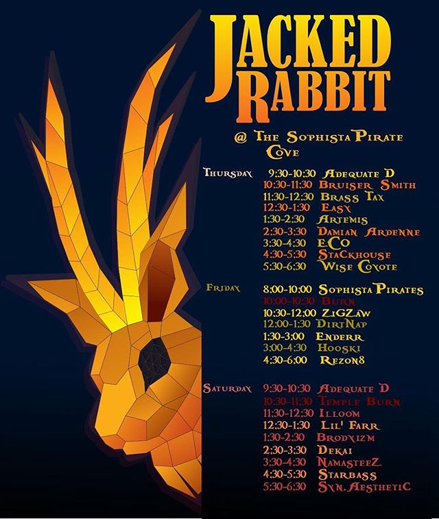 E11 starts today! I'll be playing tomorrow with #StarTribe, and Saturday night on the #FireTribe stage around 12:00am and on the #JackedRabbit #SophistaPirate stage at 2:30am. I'm so stoked to make my first journey to Stargazer ranch, and to connect with friends, music, and art all weekend 🌒🌓🌕🐾🐺🎶🔥