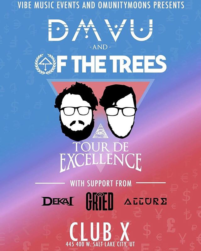 Two days out!! Stoked to throw down with @dmvuofficial  and@ofthetreesmusic along with the local homes @skgrieder and #Allure! 🔥🎶 #saltlakecity #bassmusic