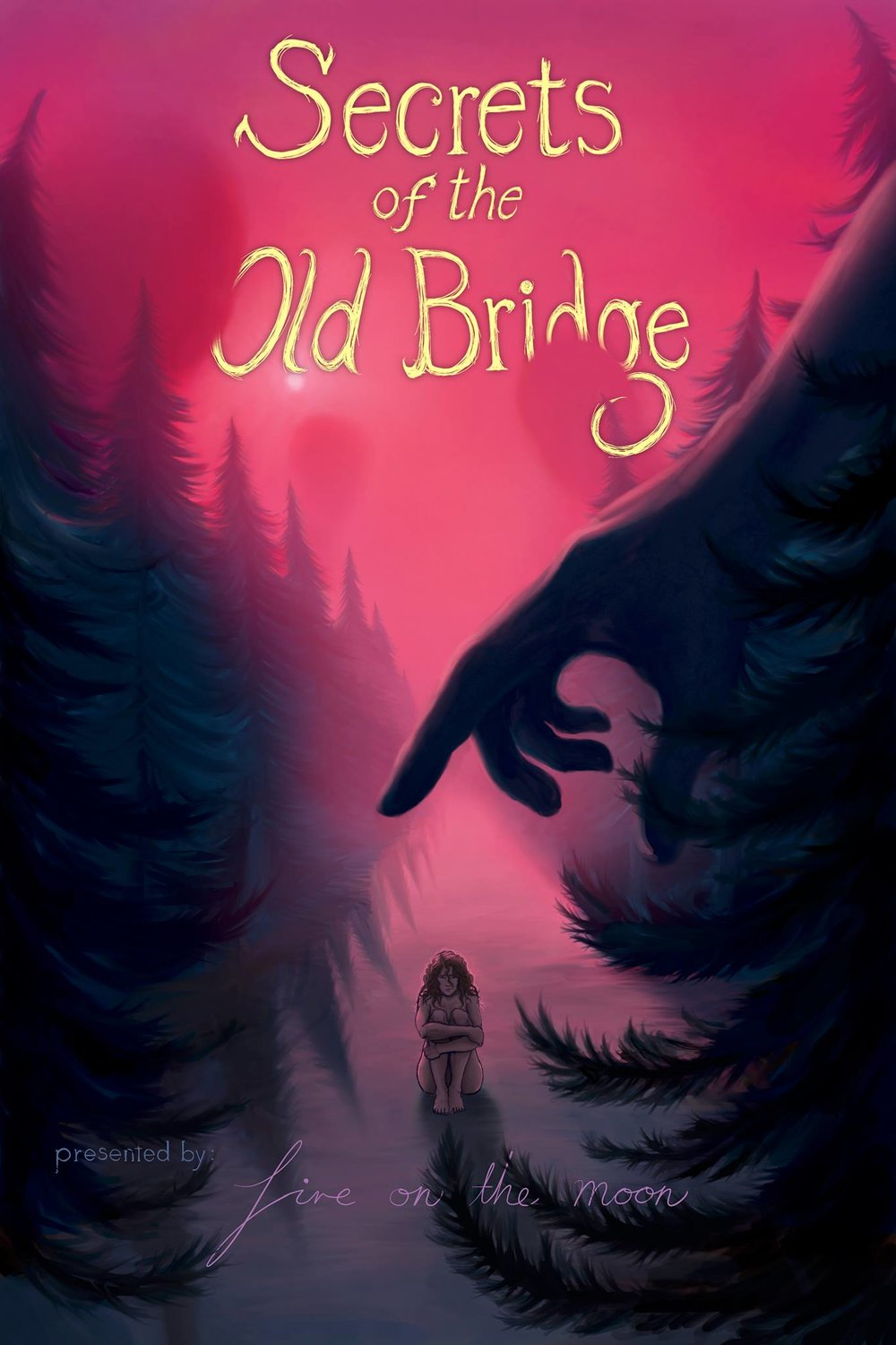 """Fire on the moon presents… Secrets of the old bridge - [PAST - December 2nd]In """"Secrets of the Old Bridge"""", you'll step into the mind and heart of a young woman named Laramie as she learns to navigate her long-held trauma with the help of those who love her.This will be a free, proof-of-concept show with a Q&A session with our audience afterward.// This project was born out of a fascination with the concept of emotional immediacy. We want to create a show that acts as a tool that could reliably translate abstract, complex concepts into a music-driven theatrical performance in the physical space. The ultimate goal is to take what we learn and offer musicians the ability to perform and for the people watching to be able to grasp the emotions and themes embedded in their music with ease. //About Your Experience:- The performance lasts 55 minutes without intermission. You will only be able to use the restroom during the pre-show portion of the experience. - Please keep in mind when you reserve your free ticket(s): there is limited seating in the general admission area. If you prefer to be seated, please reserve a"""