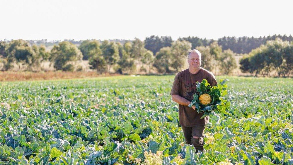 David Tatman de Spring Creek Organics. Photo: Chloe Smith.