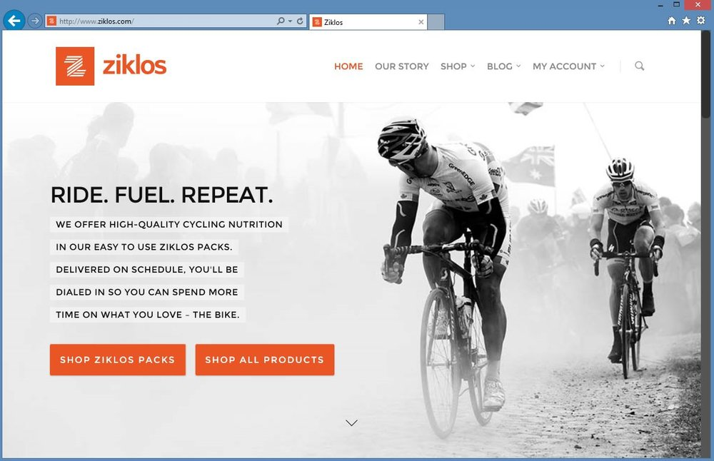 "PROJECT:  Partner with a new subscription-based cycling nutrition company to help launch their business.  TASKS:   Brand development ; logo and tagline, brand voice, brand guidelines  Website : design and build eCommerce site  Social : design, write and post  Packaging : design and produce packaging for ""Packs""   Events : design and produce materials for trade shows, including booth design, collateral and signage.  CLIENT: Ziklos (closed in 2016)"