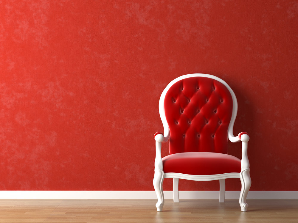 Deep Red Paint Color for Interior