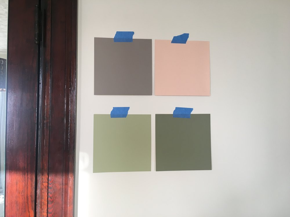 Order your free paint samples and test them against your wall and fixtures before investing in the actual paint.