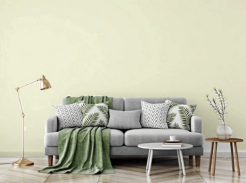 Traditional style with coordinating or neutral wall color highlights the patterns & colors in the room.