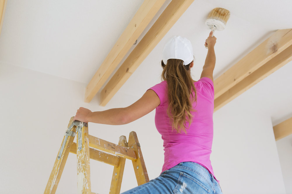 Painting the ceilings
