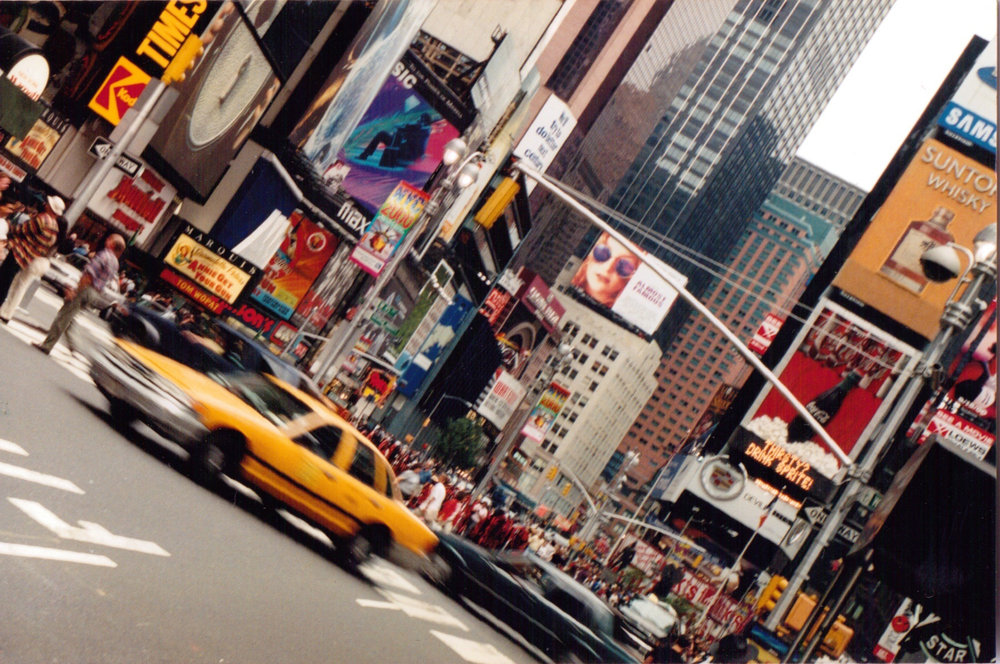 FRAGMENTS:   Times Square, NYC, 2001