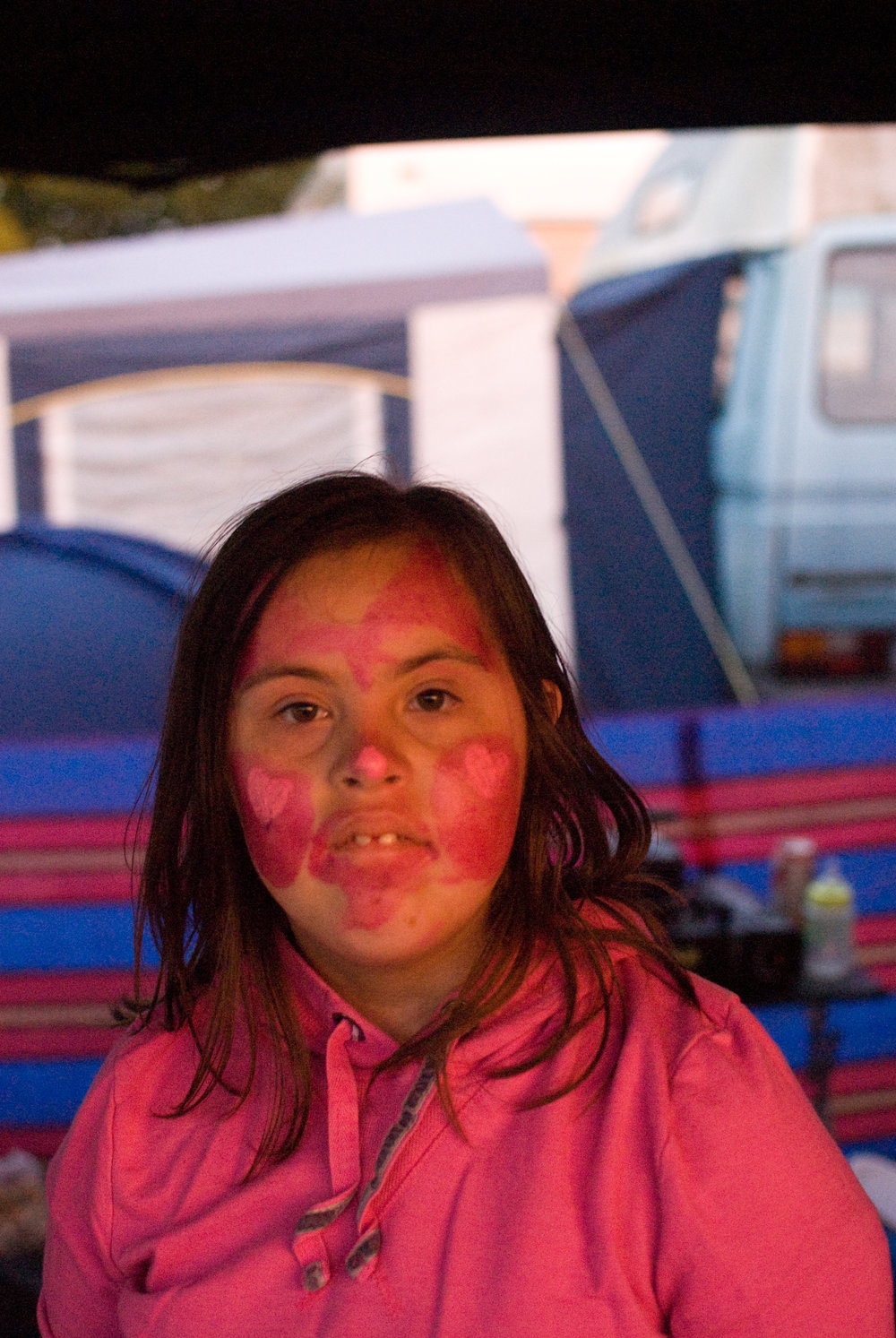 Sheila-Ann With Face Paint