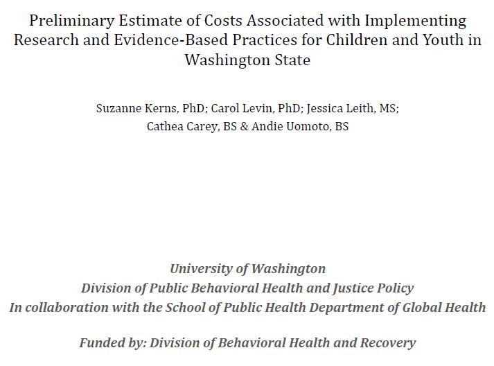 EBP Cost Study Report