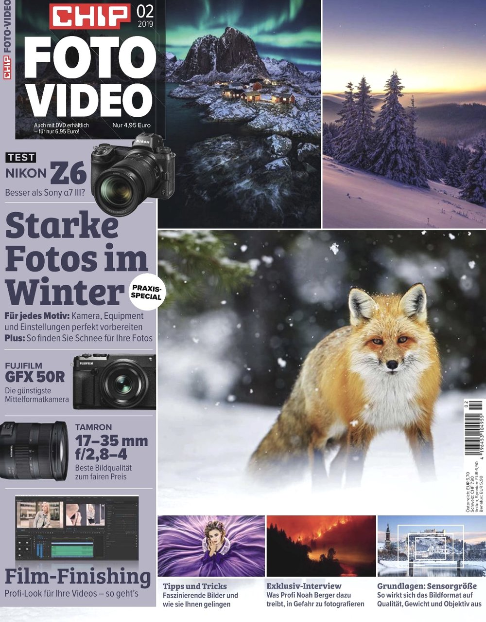 My Hamnøy image on the cover of Chip Foto Video (also includes a 2 page article written by me)