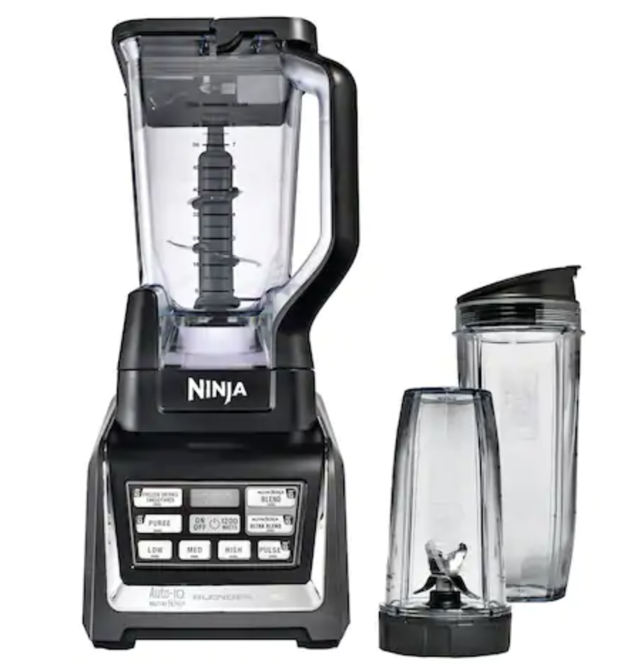 Blender - I have a Nutri Ninja® Blender DUO with Auto-iQ™ that I got as a wedding gift three years ago and it doesn't seem to be slowing down anytime soon! Between Will and I, we at least use it once every day if not twice and it ALWAYS blends our frozen good perfectly for a creamy smoothie! I have tried this in the individual blender cups from NutriBullet but they do leave chunks behind. There are many amazing blenders out there and I can only speak for a few since I haven't used a wide variety of them! I will say, as long as you have a high powered blender, you will be good! I love the brands Ninja and VitaMix!My blender is actually on sale from Khols right now for $169 instead of $199!Click here for the blender on sale
