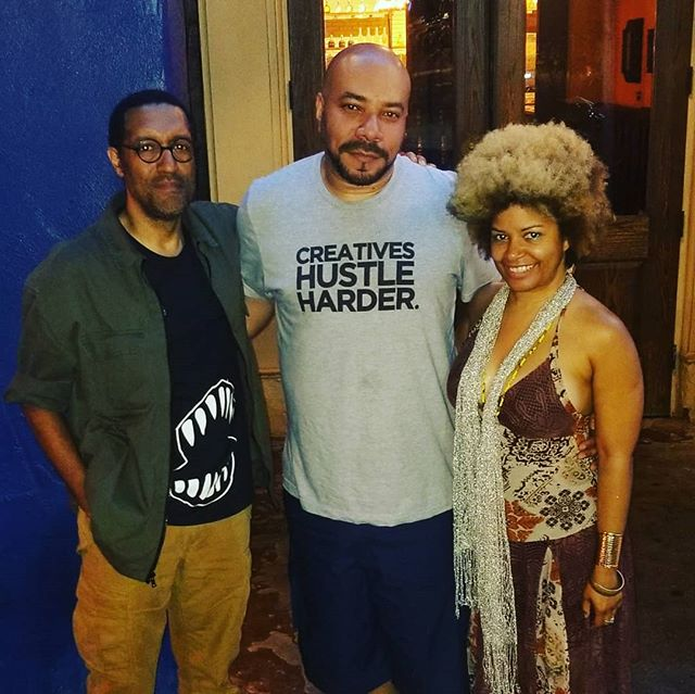 Creatives Hustle Harder....#DrComics & @jijennings70 #Afrofuturism